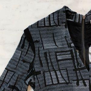Xtaren Dresses - Long Sleeve Fitted Grey Sweater Dress